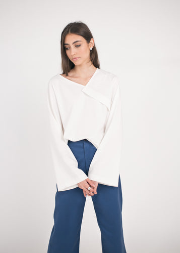AURA Studios Angle Top Natural White Organic Cotton