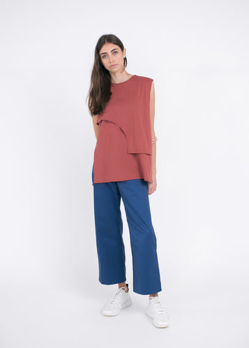 AURA Studios AW21 Curve Top Rust Organic Cotton