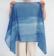 Load image into Gallery viewer, AURA Studios Naturally Indigo Dyed Flow Scarf