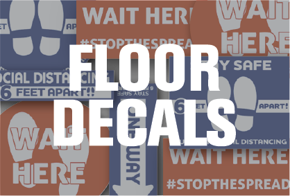 Floor Decals for Social Distancing