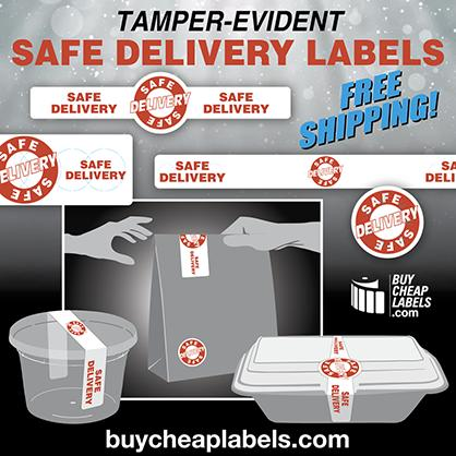 Safe Delivery Labels - FREE SHIPPING!