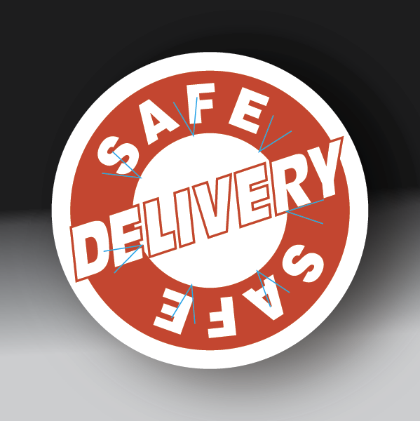 Safe Delivery Circle Sticker