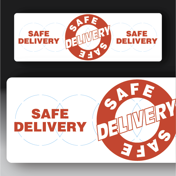 Safe Delivery Rectangle Sticker
