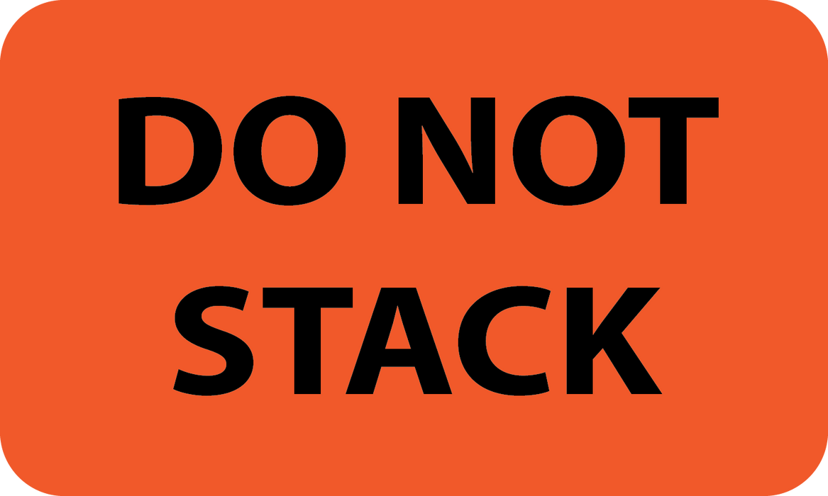 "3"" x 5"" ""DO NOT STACK"" Label"