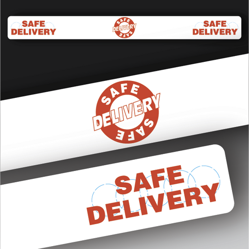 Safe Delivery Band Sticker