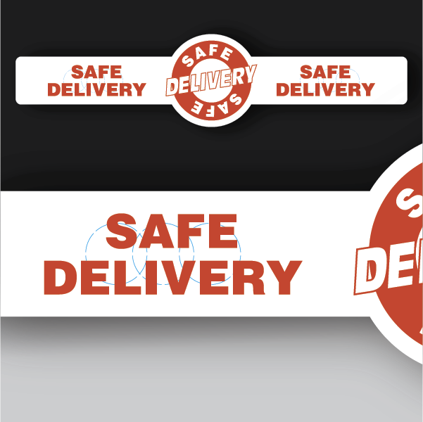 Safe Delivery Band with Circle Sticker
