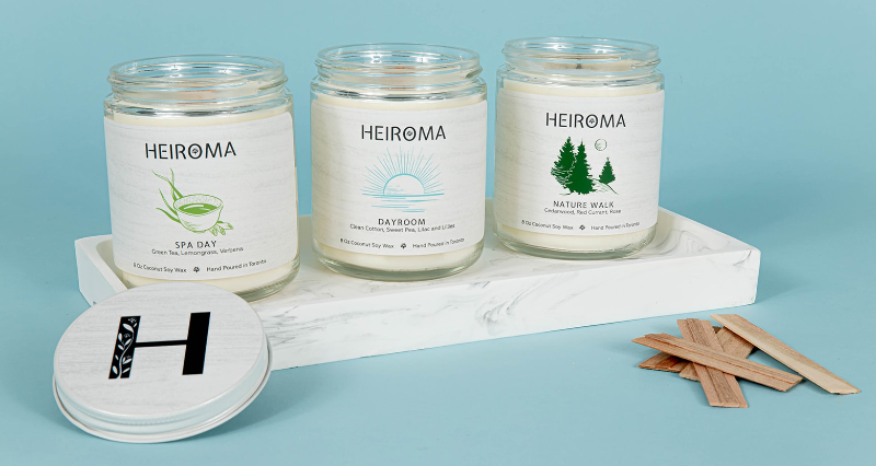 wood wick candles heiroma