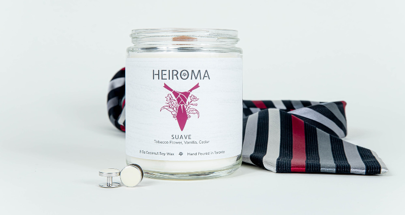 heiroma suave wooden wick candle