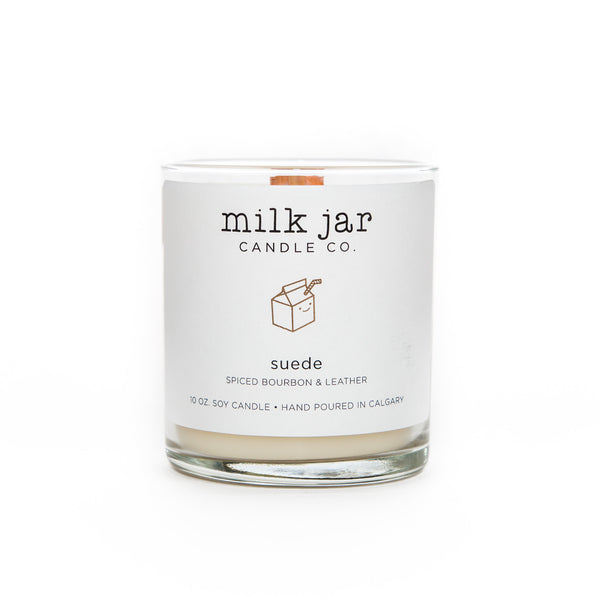 Suede Candle - Spiced Bourbon & Leather
