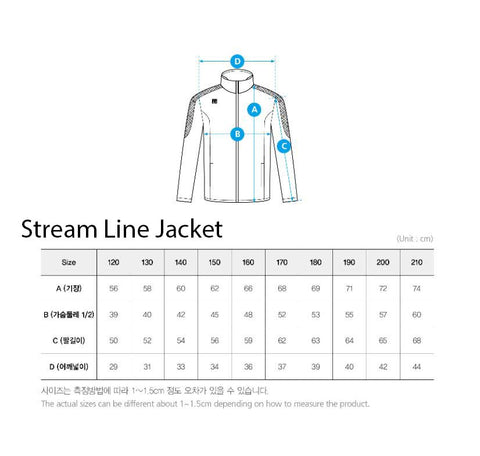 Mooto Jacket Size Guide
