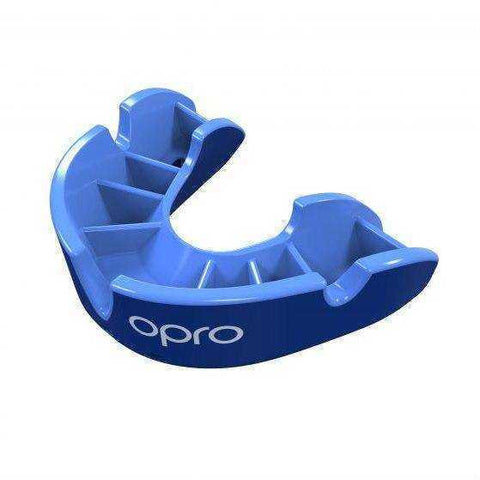 Image of Opro Junior Silver Gen 4 Mouth Guard Blue/Light Blue | Gum Shields | Fight Co