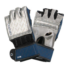 Load image into Gallery viewer, Century Brave Grip Bar Gloves Silver/Navy