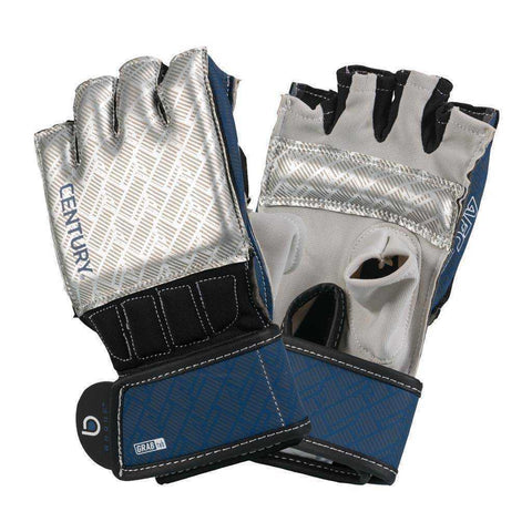 Century Brave Grip Bar Gloves Silver/Navy | Bag Gloves | Fight Co