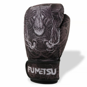 Fumetsu Rampage Washable Boxing Gloves Black/Grey - Fight Co