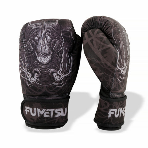 Image of Fumetsu Rampage Washable Boxing Gloves Black/Grey - Fight Co