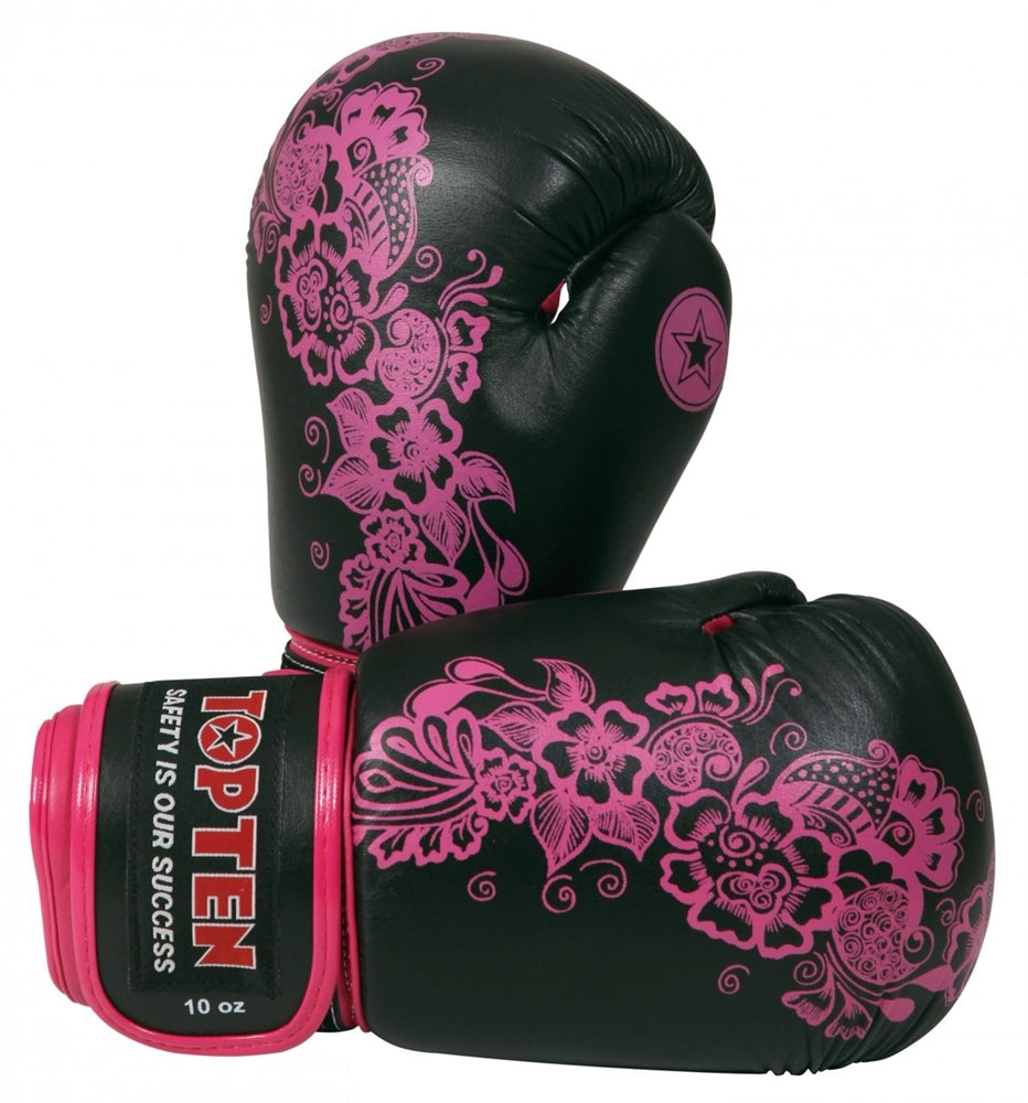 Top Ten Flowers Ladies Boxing Gloves 10oz | Boxing Gloves | Fight Co