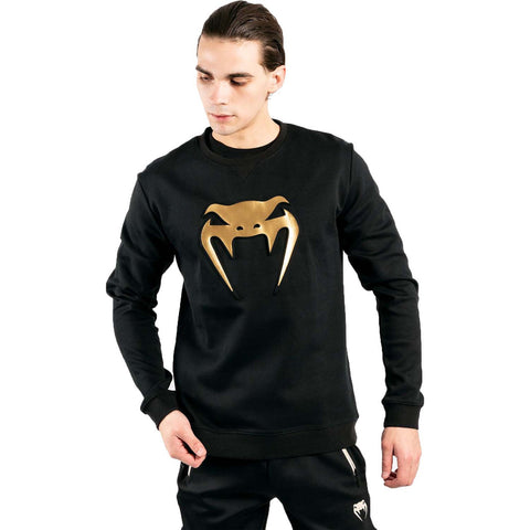 Image of Venum Classic Crewneck Black/Gold | Hoodie | Fight Co