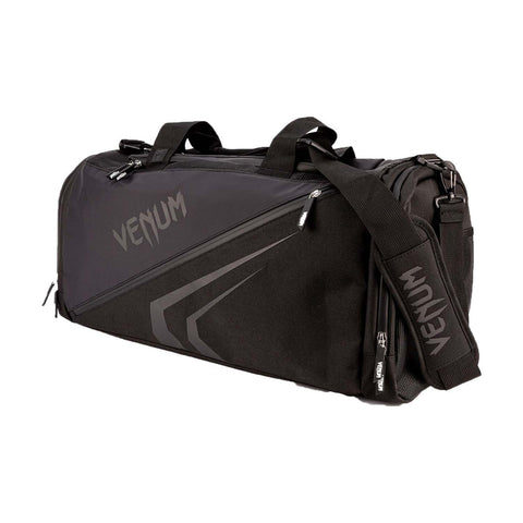 Venum Trainer Lite Evo Sports Bag Black/Black | Gym Bags | Fight Co