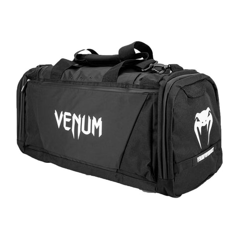 Venum Trainer Lite Evo Sports Bag Black/White | Gym Bags | Fight Co