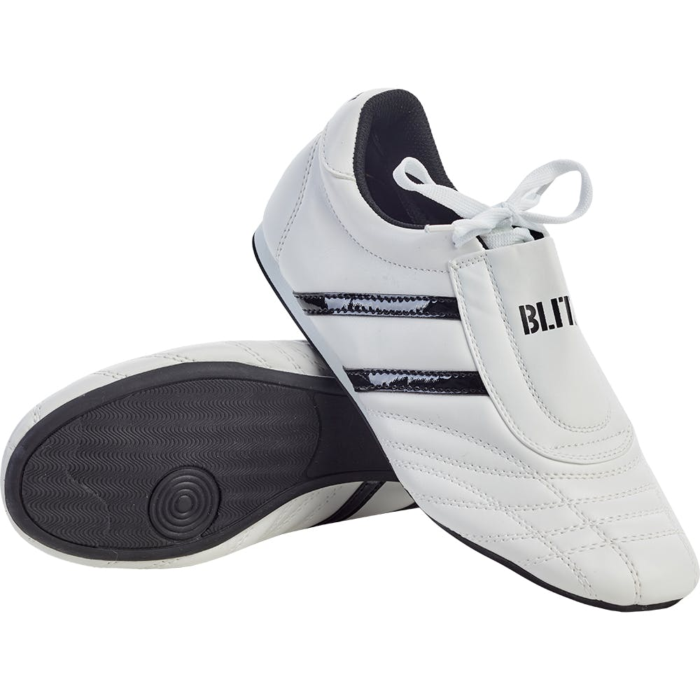Blitz Sports Martial Arts Training Shoes - White Black, Clothing & Accessories by Fight Co