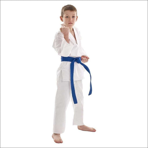 Bytomic Kids White V-Neck Uniform - Fight Co