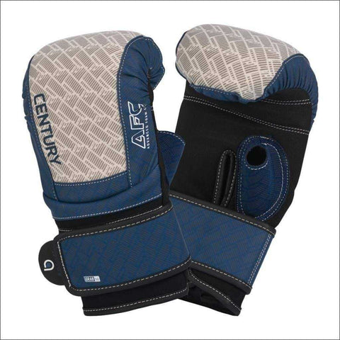 Century Brave Neoprene Bag Gloves Silver/Navy | Bag Gloves | Fight Co
