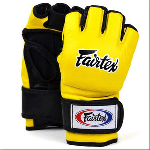 Fairtex Ultimate MMA Fight Gloves - Yellow | MMA Gloves | Fight Co