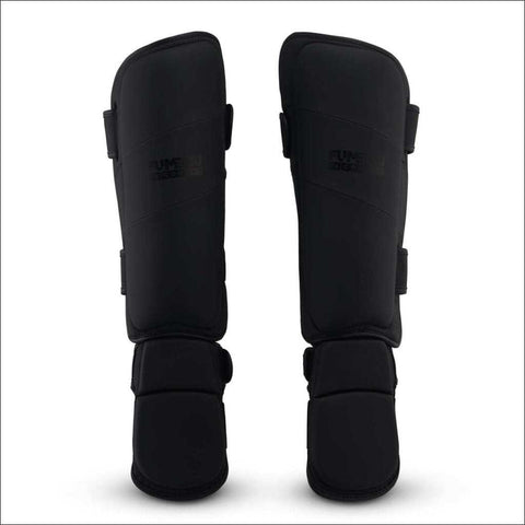 Image of Fumetsu Ghost Thai Shin/Instep Guards Black/Black - Fight Co