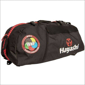 Hayashi WKF Sportsbag/Backpack Black/Red - Gym Bags