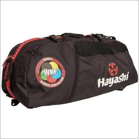 Image of Hayashi WKF Sportsbag/Backpack Black/Red | Gym Bags | Fight Co