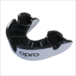 Opro Junior Silver Twin Pack Gen 4 Mouth Guard Black/White - Fight Co