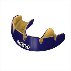 Opro Power Fit Braces Mouth Guard Dark Blue/Gold - Fight Co
