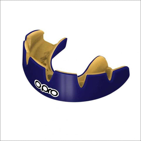 Image of Opro Power Fit Braces Mouth Guard Dark Blue/Gold - Fight Co