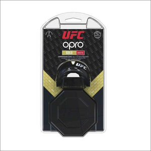 Opro UFC Gold Mouth Guard Black Metal/Gold | Gum Shields | Fight Co