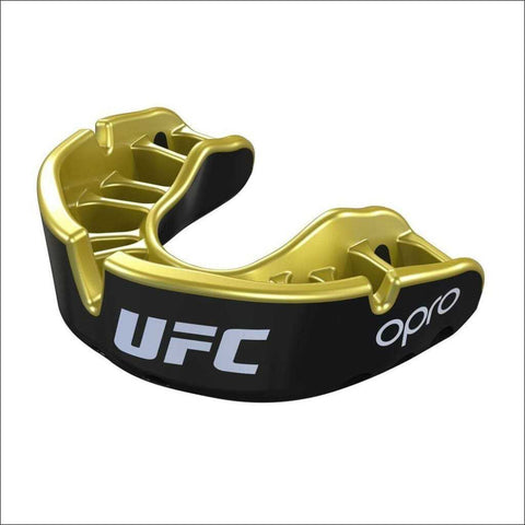 Image of Opro UFC Gold Mouth Guard Black Metal/Gold - Fight Co