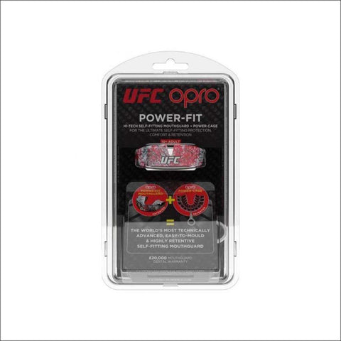 Image of Opro UFC Power Fit  Red/Black/White - Fight Co