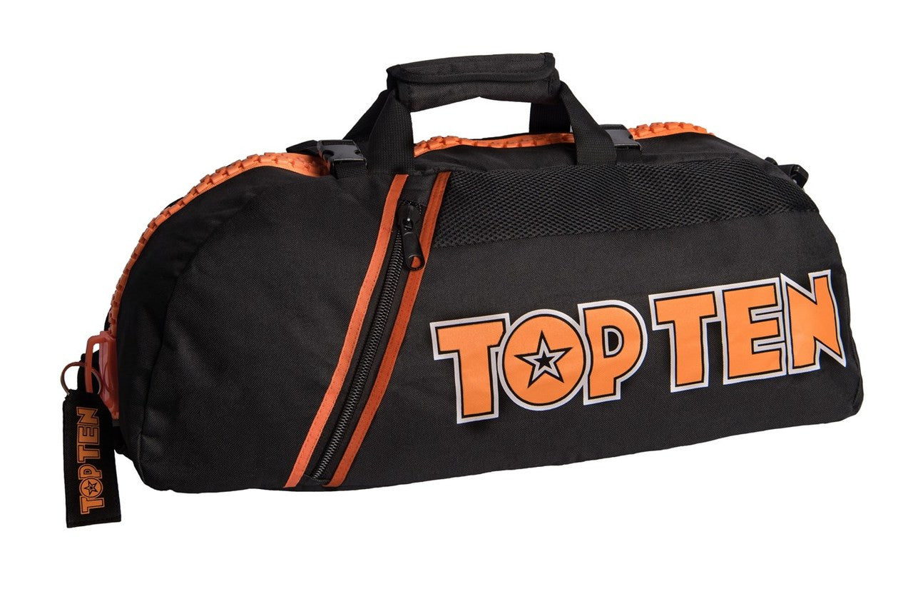 Top Ten Convertible Sports Bag/Backpack Black/Orange by  Fight Co