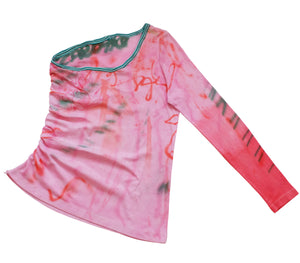 Hand Painted Single Sleeve Top