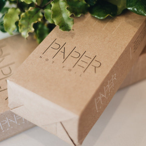 Paper not foil option for eco friendly hair salons