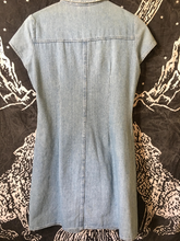 Load image into Gallery viewer, 1990s Vintage Denim Mini Dress