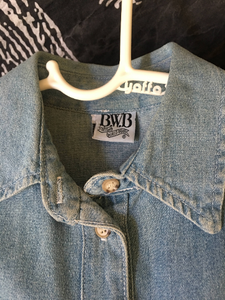 1990s Vintage Denim Mini Dress