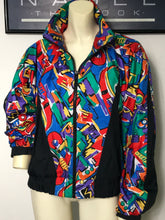 Load image into Gallery viewer, vintage LILY'S OF BEVERLY HILLS colorful windbreaker jacket