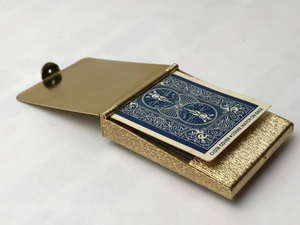 antique 1930s hinged brass matchbox cover