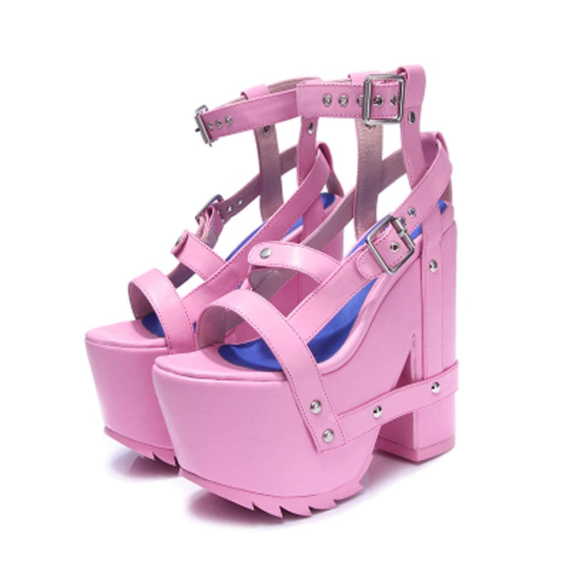 pink / white / black nightcall platforms