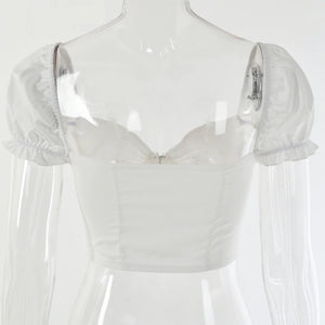 juliet cropped corset blouse