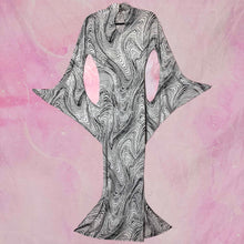 Load image into Gallery viewer, vtg psychedellic swirl structured gown