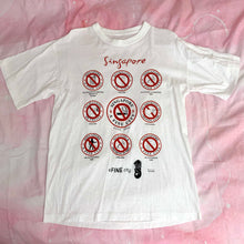 Load image into Gallery viewer, funny vintage SINGAPORE souvenir t shirt