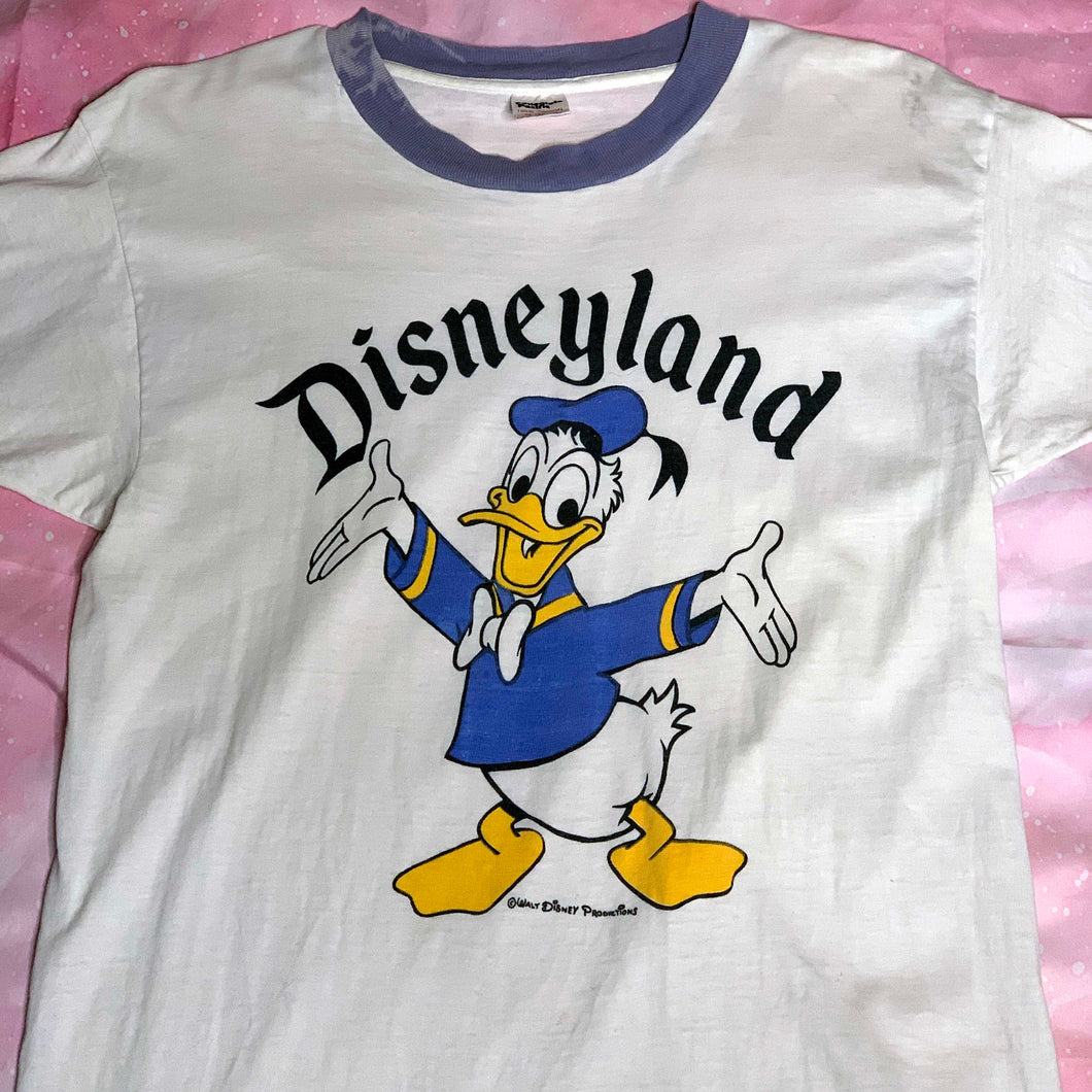 collectible 80s donald duck disneyland ringer t shirt