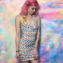 Load image into Gallery viewer, rainbow polka dot party dress