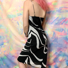 Load image into Gallery viewer, vintage Y2K trippy swirl dress